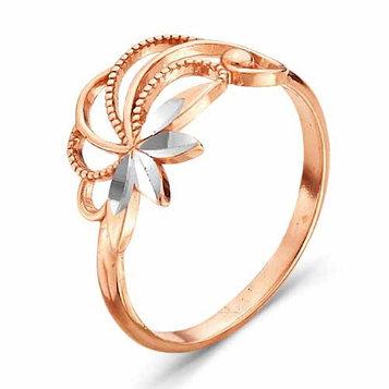 "Кольцо позолота ""Ива"", 19 размер"