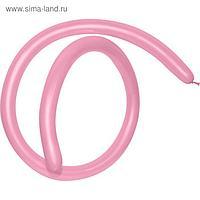 Шар для моделирования 260, стандарт, пастель, розовый, набор 100 шт.