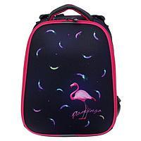 "Рюкзак каркасный, Stavia, 38 х 30 х 16 см, для девочки, эргономичная спинка, ""Фламинго мини"""