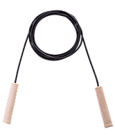 Скакалка резиновая с деревянной ручкой, 3,80 м