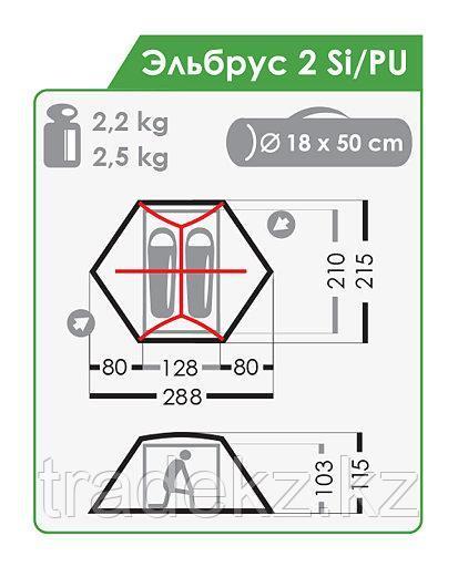 Палатка трекинговая NORMAL Траппер 2 Si/PU - фото 4
