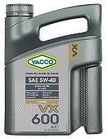 Противозадирное моторное масло Yacco VX 600 5W40 4 л