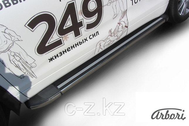 Комплект алюминиевых порогов Arbori Luxe Black 1800 для TOYOTA Highlander 2014-2016, фото 2
