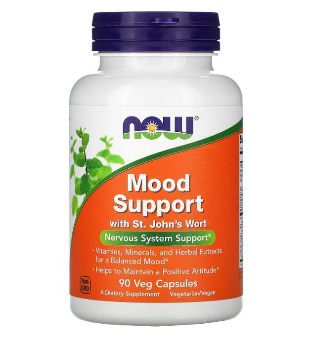 Now Foods, Mood Support со зверобоем, 90 растительных капсул