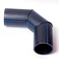 Отвод 3-сегментный сварной 45° PE-100 SDR41-PN4 400 мм