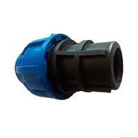 Муфта ПНД с внутренней резьбой PN16 63х1-1/2 мм