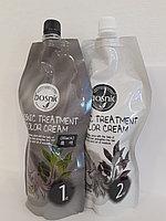 Безаммиачная крем-краска для волос Bosnic Treatment Color Cream 1st, 2nd 500ml.(Black)