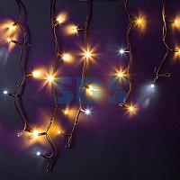 """Гирлянда Айсикл (бахрома) светодиодный,  4,0 х 0,6 м,  с эффектом мерцания,  черный провод """"КАУЧУК"""",  230 В,"""