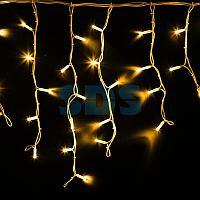 "Гирлянда Айсикл (бахрома) светодиодный,  4,0 х 0,6 м,  белый провод ""КАУЧУК"",  230 В,  диоды желтые,  128 LED"