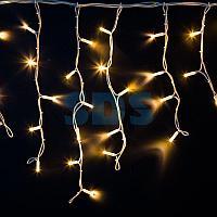 """Гирлянда Айсикл (бахрома) светодиодный,  4,0 х 0,6 м,  белый провод """"КАУЧУК"""",  230 В,  диоды ТЕПЛЫЙ БЕЛЫЙ,"""