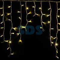 "Гирлянда Айсикл (бахрома) светодиодный,  5,6 х 0,9 м,  белый провод ""КАУЧУК"",  230 В,  диоды желтые,  240 LED"