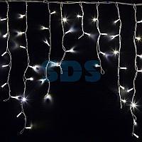 """Гирлянда Айсикл (бахрома) светодиодный,  5,6 х 0,9 м,  белый провод """"КАУЧУК"""",  230 В,  диоды белые,  240 LED"""