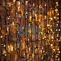 """Гирлянда """"Светодиодный Дождь"""" 2х1,5м,  постоянное свечение,  черный провод """"КАУЧУК"""",  230 В,  диоды ТЕПЛЫЙ"""