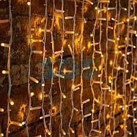 """Гирлянда """"Светодиодный Дождь"""" 2х3м,  постоянное свечение,  белый провод """"КАУЧУК"""",  230 В,  диоды ЖЁЛТЫЕ,  760"""