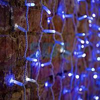 """Гирлянда """"Светодиодный Дождь"""" 2х1,5м,  эффект мерцания,  белый провод,  230 В,  диоды СИНИЕ,  360 LED"""