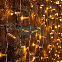 """Гирлянда """"Светодиодный Дождь"""" 2х3 м,  постоянное свечение,  белый провод,  230 В,  диоды ЖЁЛТЫЕ,  760 LED"""