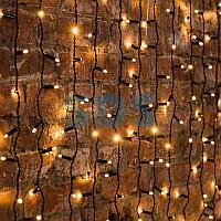 """Гирлянда """"Светодиодный Дождь"""" 2х3м,  постоянное свечение,  черный провод,  230 В,  диоды ТЕПЛЫЙ БЕЛЫЙ,  760"""