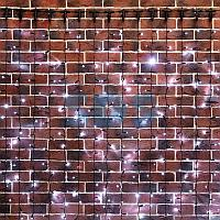 """Гирлянда """"Светодиодный Дождь"""" 2х4м,  эффект мерцания,  черный провод,  230 В,  диоды БЕЛЫЕ,  800 LED"""
