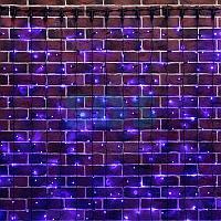 """Гирлянда """"Светодиодный Дождь"""" 2х6м,  постоянное свечение,  черный провод,  230 В,  диоды СИНИЕ,  768 LED"""
