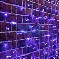 """Гирлянда """"Светодиодный Дождь"""" 2х6м,  постоянное свечение,  прозрачный провод,  230 В,  диоды СИНИЕ,  1140 LED"""