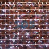 """Гирлянда """"Светодиодный Дождь"""" 2х6м,  постоянное свечение,  прозрачный провод,  230 В,  диоды БЕЛЫЕ,  1140 LED"""