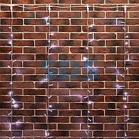 """Гирлянда """"Светодиодный Дождь"""" 2х6м,  эффект водопада,  прозрачный провод,  24В,  диоды БЕЛЫЕ,  360 LED"""