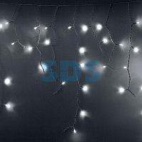 Гирлянда Айсикл (бахрома) светодиодный,  2,4х0,6м,  эффект мерцания,  прозрачный провод,  220В,  диоды БЕЛЫЕ,