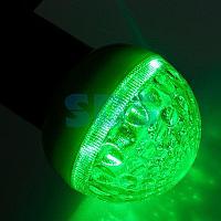 Лампа шар светодиодная,  9 SMD 3528 диодов,  зеленая,  диаметр 50 мм. ,  E27, 220V,  IP65. NEON-NIGHT