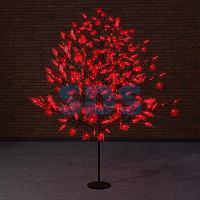 """Светодиодное дерево """"Клён"""",  высота 2,1м,  диаметр кроны 1,8м,  красные светодиоды,  IP 65, понижающий"""