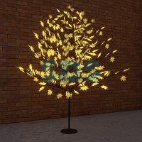 """Светодиодное дерево """"Клён"""",  высота 2,1м,  диаметр кроны 1,8м,  желтые светодиоды,  IP 65, понижающий"""