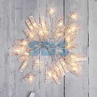 Гирлянда светодиодная «Прищепки» 30 LED,  5 м,  теплый белый цвет свечения NEON-NIGHT