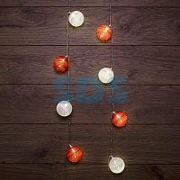 Тайские фонарики «Магия» 3,5 м,  прозрачный ПВХ,  20 LED,  теплый белый,  питание 2 х АА (батарейки не в