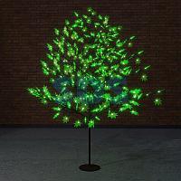"""Светодиодное дерево """"Клён"""",  высота 2,1м,  диаметр кроны 1,8м,  зеленые светодиоды,  IP 65, понижающий"""