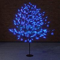"""Светодиодное дерево """"Клён"""",  высота 2,1м,  диаметр кроны 1,8м,  синие светодиоды,  IP 65, понижающий"""