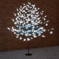 """Светодиодное дерево """"Клён"""",  высота 2,1м,  диаметр кроны 1,8м,  белые светодиоды,  IP 65, понижающий"""