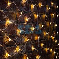 """Гирлянда """"Сеть"""" 2х1,5м,  свечение с динамикой,  прозрачный ПВХ,  288 LED,  230 В,  цвет: Тёплый белый"""