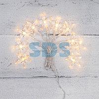 Гирлянда светодиодная «Звездочки» 1.5 м,  10 LED,  прозрачный ПВХ,  цвет свечения теплый белый,  2 х АА