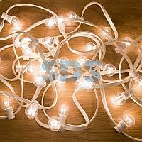 Гирлянда LED Galaxy Bulb String 10м,  белый КАУЧУК,  30 ламп*6 LED БЕЛЫЕ,  влагостойкая IP65