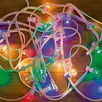 Гирлянда LED Galaxy Bulb String 10м,  белый КАУЧУК,  30 ламп*6 LED МУЛЬТИ,  влагостойкая IP65