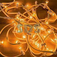Гирлянда LED Galaxy Bulb String 10м,  белый КАУЧУК,  30 ламп*6 LED ТЕПЛЫЙ БЕЛЫЙ,  влагостойкая IP65