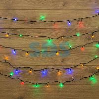 "Гирлянда ""Твинкл Лайт"" 15 м,  темно-зеленый ПВХ,  120 LED,  цвет мультиколор"