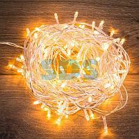 """Гирлянда """"Твинкл Лайт"""" 15 м,  прозрачный ПВХ,  120 LED,  цвет ТЕПЛЫЙ БЕЛЫЙ"""