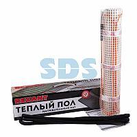 Теплый пол, нагревательный мат REXANT Extra, двухжильный, площадь 1.5 м², 0.5х3 м, 240 Вт