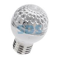 Лампа шар e27 10 LED Ø50мм синяя 24В (постоянное напряжение)