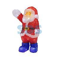 """Акриловая светодиодная фигура """"Санта Клаус приветствует"""" 30 см,  40 светодиодов,  IP65 понижающий"""