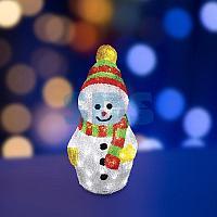 """Акриловая светодиодная фигура """"Снеговик с шарфом"""" 30 см,  40 светодиодов,  IP 65, понижающий трансформатор в"""