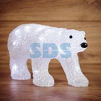"""Акриловая светодиодная фигура """"Медведь"""" 34,5х12х17 см,  4,5 В,  3 батарейки AA (не входят в комплект),  24"""
