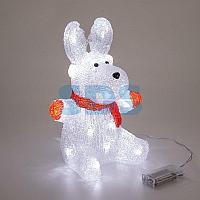 Акриловая светодиодная фигура «Олененок в шарфе» 20х17х30 см,  24 светодиода,  батарейки 2хAA (не входят в