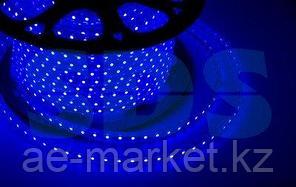 LED лента 220 В,  10х7 мм,  IP67, SMD 2835, 60 LED/m,  цвет свечения синий,  бухта 100 м