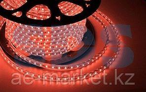 LED лента 220 В,  10х7 мм,  IP67, SMD 2835, 60 LED/m,  цвет свечения красный,  бухта 100 м